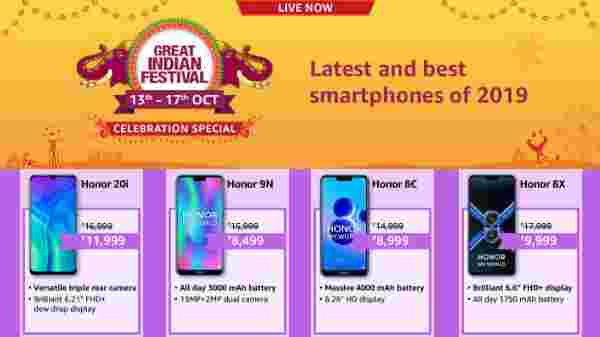 Amazon Diwali Offers On Honor Smartphones