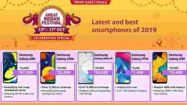 Amazon Great Indian Festival Sales On Samsung Smartphones