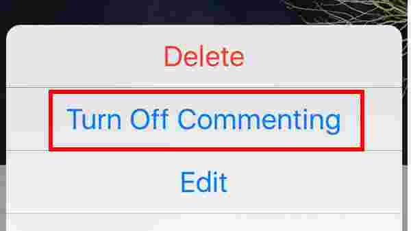 Turning off the comments on your posts: