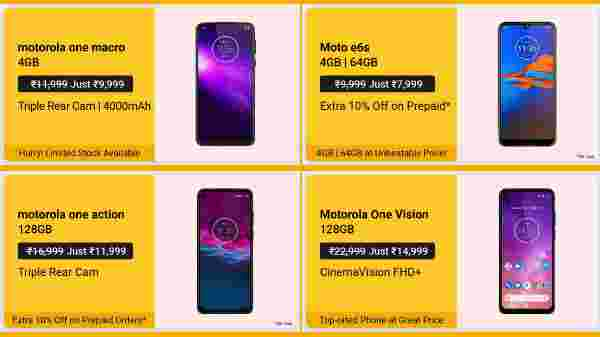 Motorola Smartphones Available On Offers