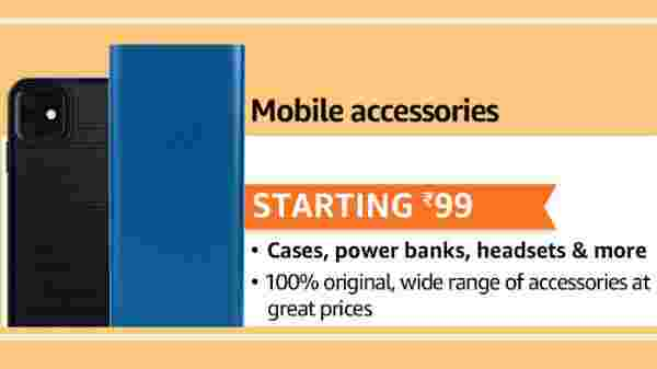 Mobile Accessories Starting INR Rs 99