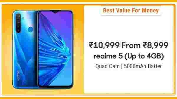 18% Off On Realme 5