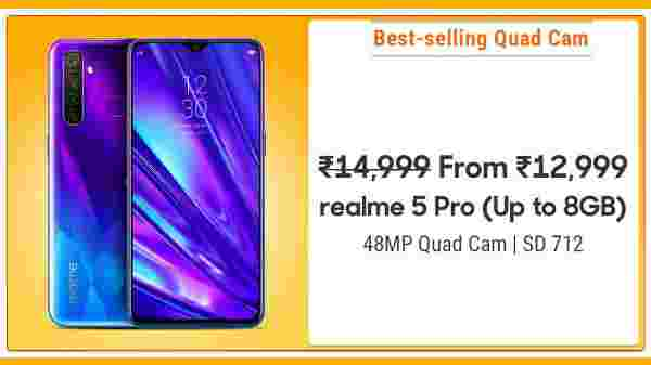 12% Off On Realme 5 Pro