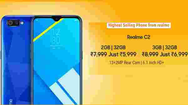 25% Off On Realme C2