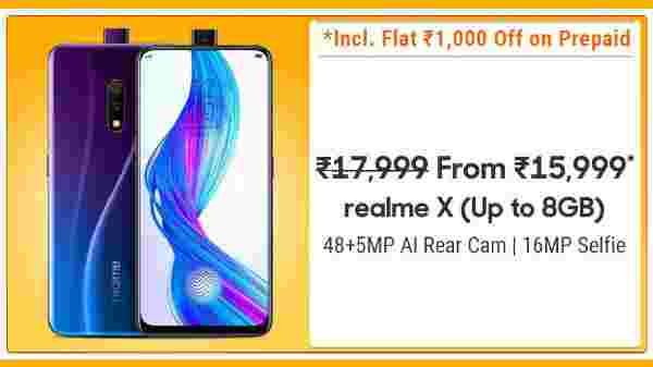 4% Off On Realme X