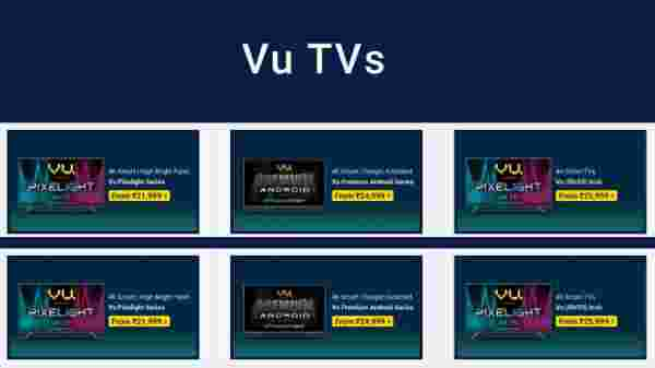 Up To 40% Off On VU TVs