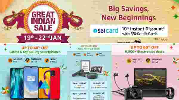 Amazon Great Indian Sales On Electronics And Other Products