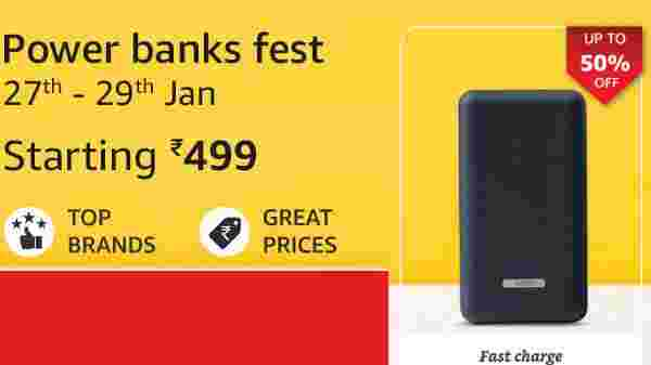 Amazon Upto 50% Off On Fast Charging Power Banks