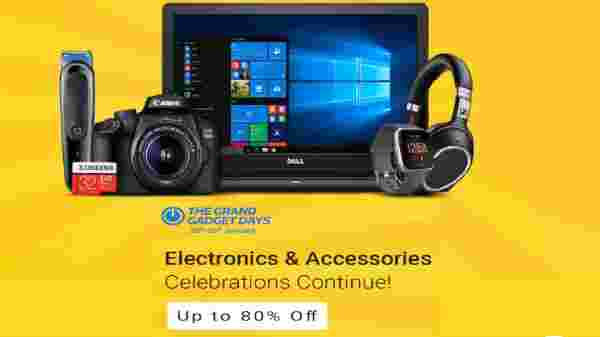 Flipkart The Grand Gadget Days: Up To 80% Off On Electronics And Accessories