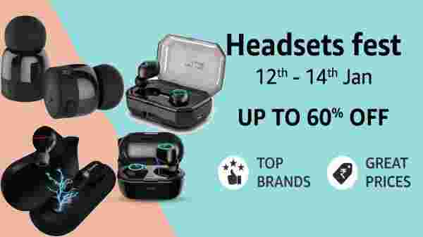 Headsets Fest Online At Amazon India Heavy Discounts On True Wireless Earbuds Gizbot News