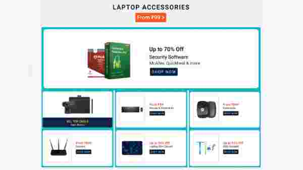 Laptop Accessories Starts From Rs. 99