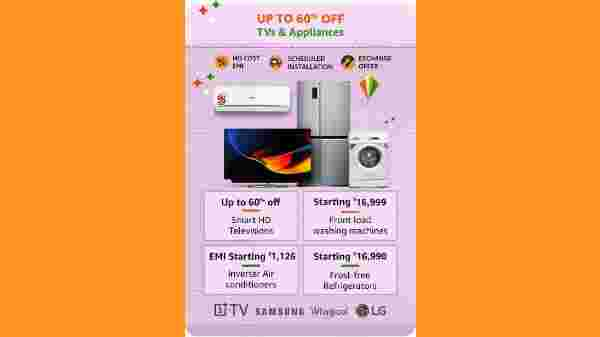 TVs And Appliances Starting From Rs. 4,749