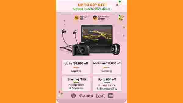 Up to 60% Off On Laptops, Camera, Headphones, Smart Watches And More