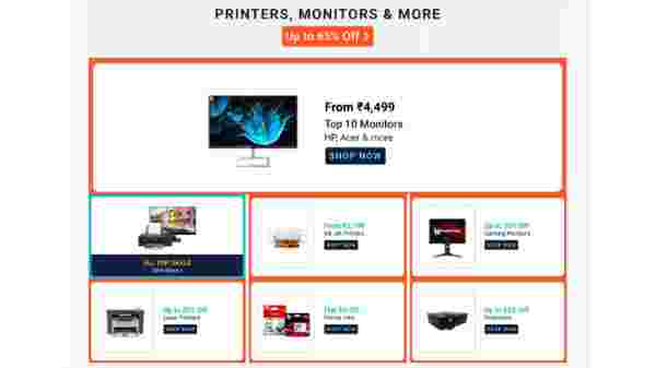 Up To 65% Off On Printers, Monitors And More