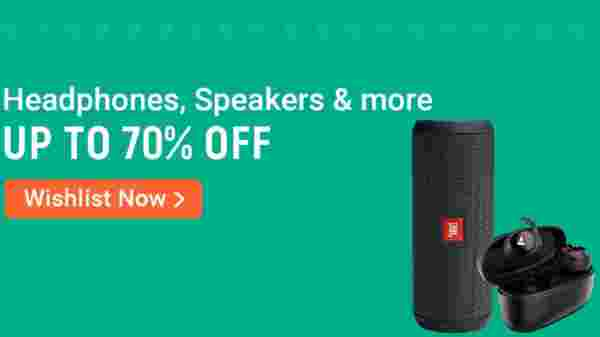 Up To 70% Off On Headphones, Speakers And More