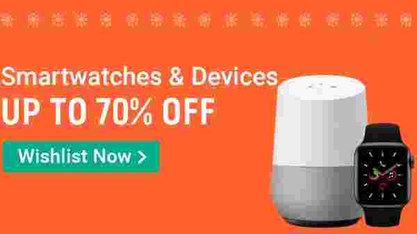 Up To 70% Off On Smartwatches And Devices