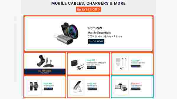 Up To 75% Off On Mobile Cables, Chargers And More