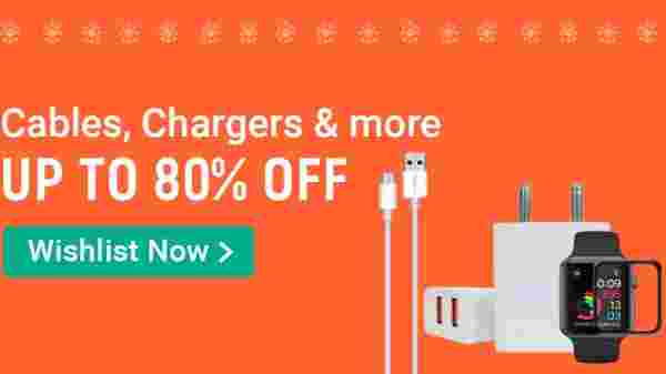 Up To 80% Off On Cables, Chargers And More