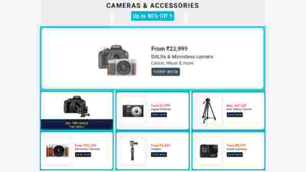 Up To 80% Off On Cameras And Accessories