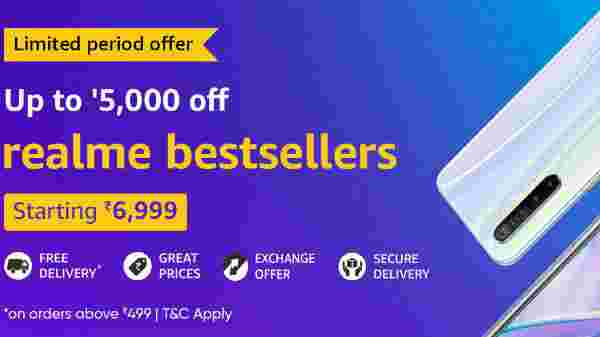Amazon Upto 5000 Offer On Realme Smartphones