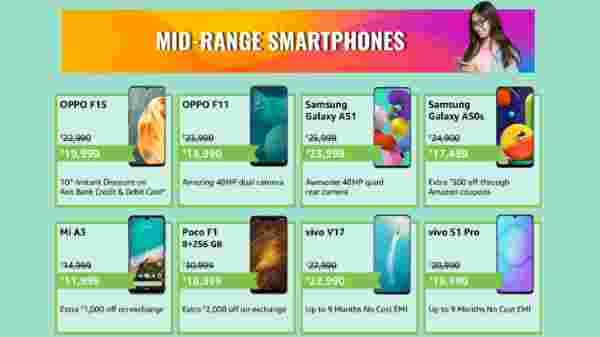 Amazon's Offers On Mid Range Smartphones