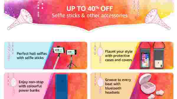 Up To 40% OFF On Selfie Sticks And Other Mobile Accessories
