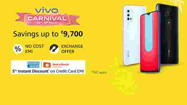 Vivo Carnival Sale Offers On Smaartphones