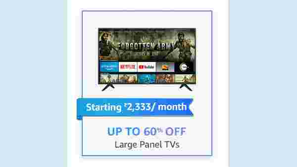 Up To 60% Off On Large Panel TVs