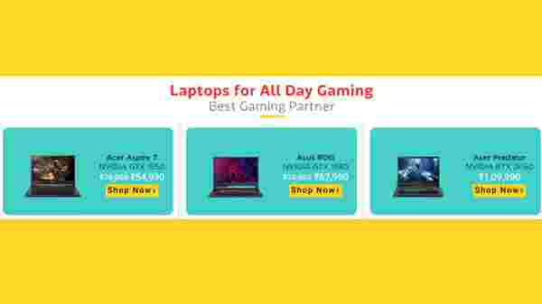 35% Off On Laptops For Gaming