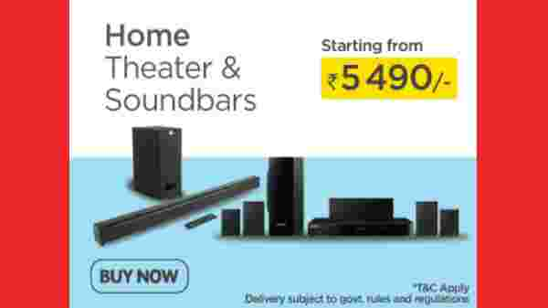 Home Theater And Soundbars Starting From Rs. 5,490