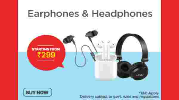 Earphones And Headphones Starting From Rs. 299