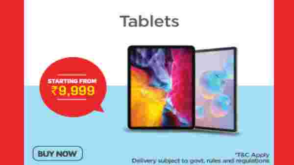 Tablets Starting From Rs. 9,999