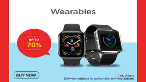 Up to 70% Off On Wearables