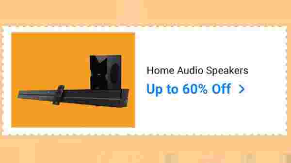 Up To 60% Off On Home Audio Speakers