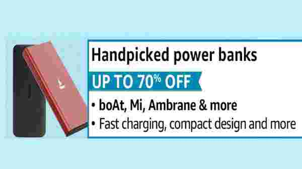 Up to 70% Off On Power Banks, Earphones And Other Mobiles Accessories