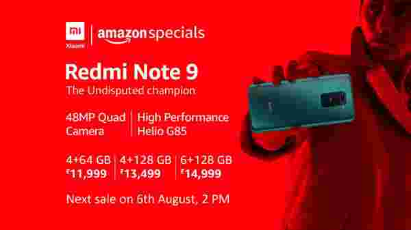 Redmi Note 9 Lunch On 6th August