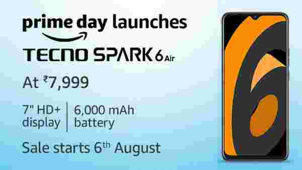 Tecno Spark 6 Air Sales Starts On 6th August
