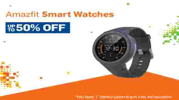 Up to 50% Off On Smart Watches And Smart Bands