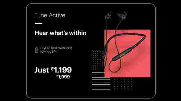 40% Off On Noise Tune Active Wireless Bluetooth Earphones