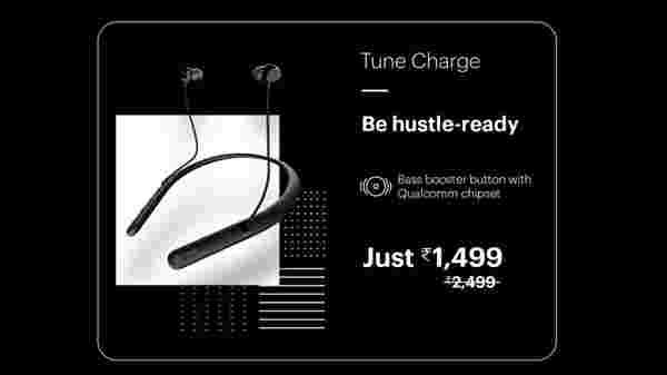 40% Off On Noise Tune Charge Wireless Bluetooth Earphones