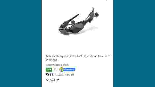 46% Off On Mankrit Sunglasses Headset Headphone Bluetooth Wireless Music Sunglasses Headsets