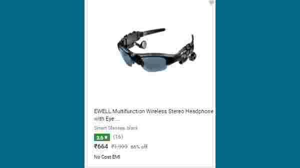 66% Off On EWELL Bluetooth Audio Player Bluetooth Connectivity Sunglasses