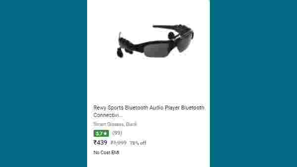 78% Off On Rewy Sports Bluetooth Audio Player Bluetooth Connectivity Sunglasses