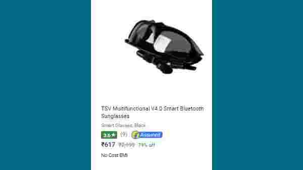 79% Off On TSV Multifunctional V4.0 Smart Bluetooth Sunglasses