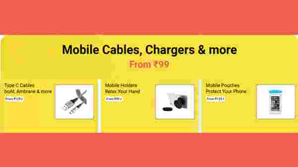 Mobile Covers, Chargers Starts From Rs. 99