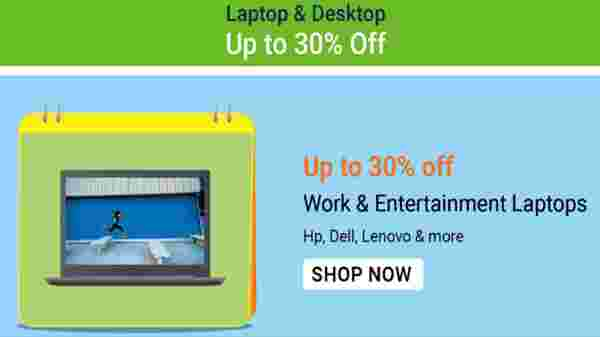 Up to 30% Off On Laptops