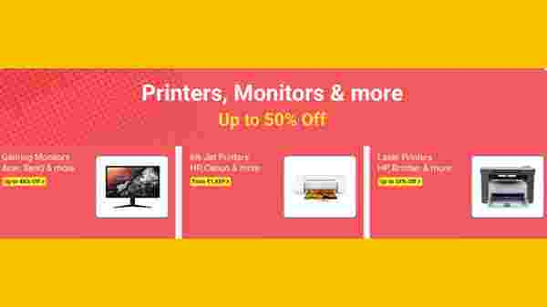 Up To 50% Off On Printers, Monitors And More