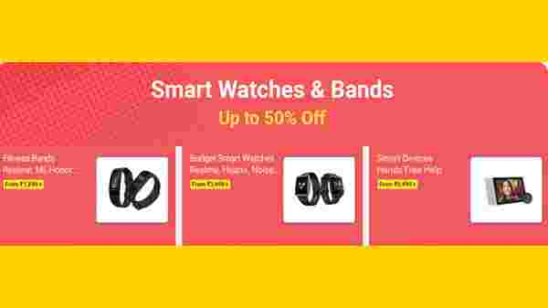 Up To 50% Off On Smartwatches And Bands