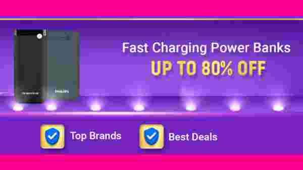Up To 80% Off On Fast Charging Power Banks