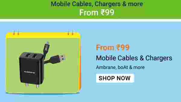 Mobile Cables And Chargers Starts From Rs. 99